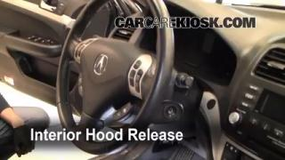 Open Hood How To 2004-2008 Acura TSX