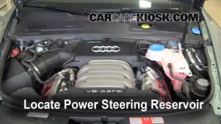 Follow These Steps to Add Power Steering Fluid to a Audi A6 (2005-2011)