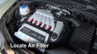 2008-2014 Audi TT Quattro Engine Air Filter Check