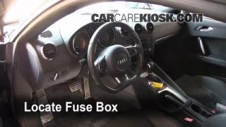 Interior Fuse Box Location: 2008-2014 Audi TT Quattro