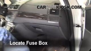 Interior Fuse Box Location: 2004-2010 BMW X3