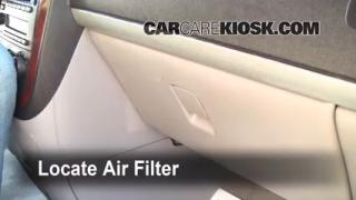 Cabin Filter Replacement: 2005-2008 Chevrolet Uplander
