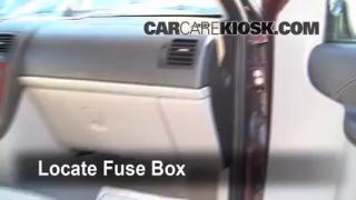 Interior Fuse Box Location: 2005-2008 Chevrolet Uplander
