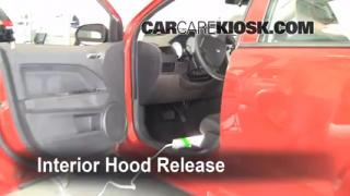 Open Hood How To 2007-2012 Dodge Caliber
