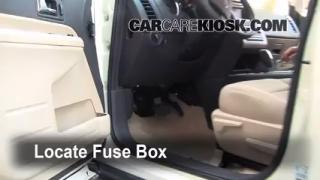 Interior Fuse Box Location: 2007-2013 Ford Edge