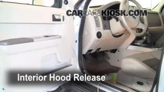 Open Hood How To 2005-2012 Ford Escape
