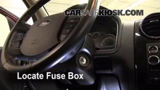 Interior Fuse Box Location: 2008-2009 Ford Taurus X