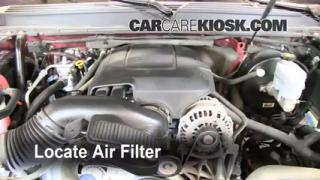 2007-2013 GMC Yukon Engine Air Filter Check
