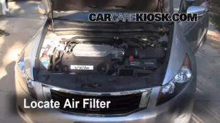 2008-2012 Honda Accord Engine Air Filter Check