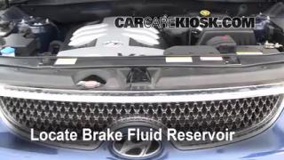 Add Brake Fluid: 2007-2012 Hyundai Veracruz