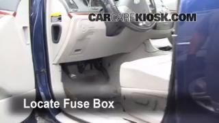 Interior Fuse Box Location: 2007-2012 Hyundai Veracruz
