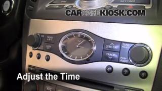How to Set the Clock on a Infiniti G35 (2007-2013)