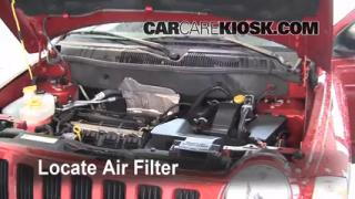 2007-2010 Jeep Compass Engine Air Filter Check