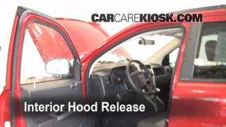 Open Hood How To 2007-2013 Jeep Compass
