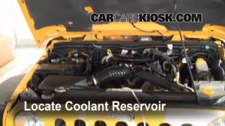 Coolant Level Check: 2007-2013 Wrangler