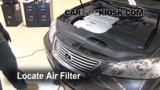 2007-2012 Lexus ES350 Engine Air Filter Check