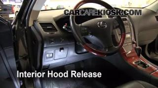 Open Hood How To 2007-2012 Lexus ES350