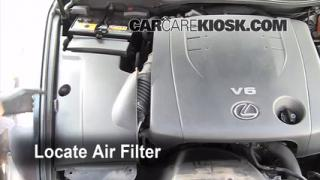 2006-2013 Lexus IS350 Engine Air Filter Check