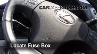 Interior Fuse Box Location: 2006-2013 Lexus IS350