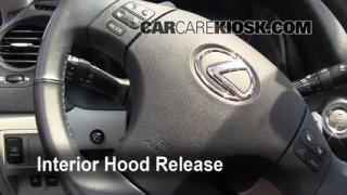 Open Hood How To 2006-2013 Lexus IS250