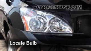 Highbeam (Brights) Change: 2004-2009 Lexus RX350