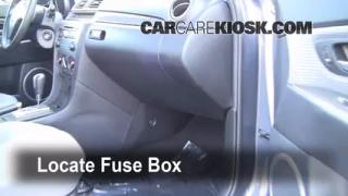 Interior Fuse Box Location: 2004-2009 Mazda 3
