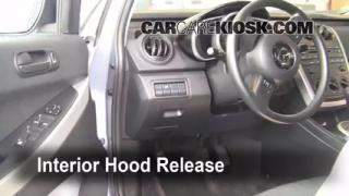Open Hood How To 2007-2012 Mazda CX-7