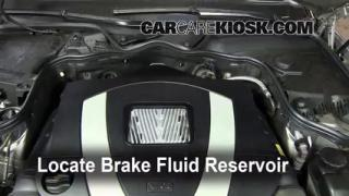 Add Brake Fluid: 2003-2009 Mercedes-Benz E350