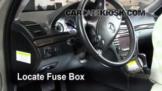 Interior Fuse Box Location: 2003-2009 Mercedes-Benz E350