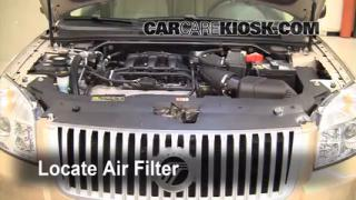 2008-2009 Ford Taurus Engine Air Filter Check