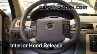 Open Hood How To 2008-2009 Ford Taurus