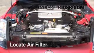 2003-2009 Nissan 350Z Engine Air Filter Check