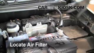 2007-2012 Nissan Sentra Engine Air Filter Check