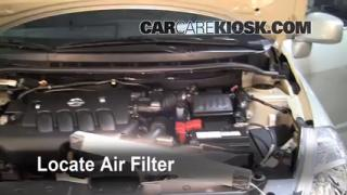 2007-2012 Nissan Versa Engine Air Filter Check