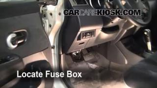 Interior Fuse Box Location: 2007-2012 Nissan Versa