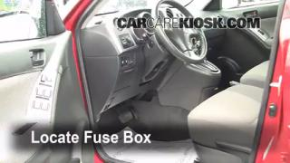 Interior Fuse Box Location: 2003-2008 Pontiac Vibe