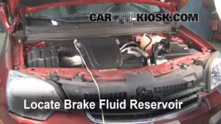 2008-2010 Saturn Vue Brake Fluid Level Check