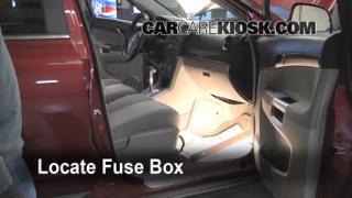 Interior Fuse Box Location: 2008-2010 Saturn Vue