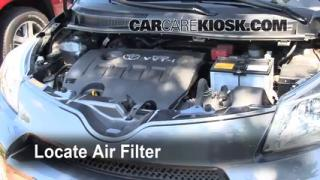 2008-2013 Scion xD Engine Air Filter Check
