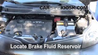 2008-2013 Scion xD Brake Fluid Level Check