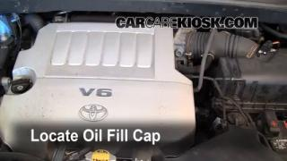 How to Add Oil Toyota Highlander (2008-2010)