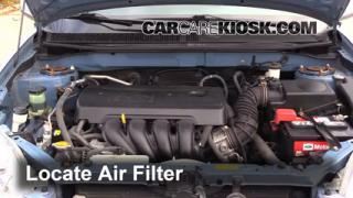 2003-2008 Toyota Matrix Engine Air Filter Check