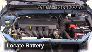 Battery Replacement: 2003-2008 Toyota Matrix