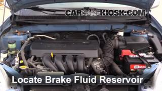 Add Brake Fluid: 2003-2008 Toyota Matrix