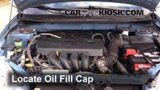 How to Add Oil Toyota Matrix (2003-2008)