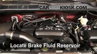 Add Brake Fluid: 2007-2013 Toyota Tundra