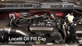 How to Add Oil Toyota Tundra (2007-2013)