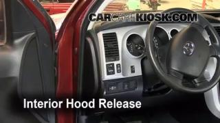 Open Hood How To 2007-2013 Toyota Tundra