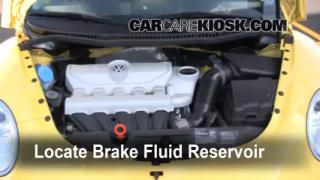 Add Brake Fluid: 1998-2010 Volkswagen Beetle
