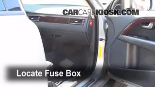 Interior Fuse Box Location: 2008-2010 Volvo XC70